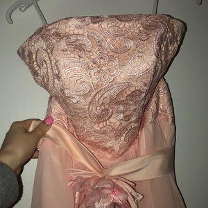 Dresses & Skirts - pink lace formal dress